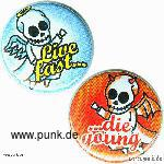 Sexypunk: Live fast... buttons Set